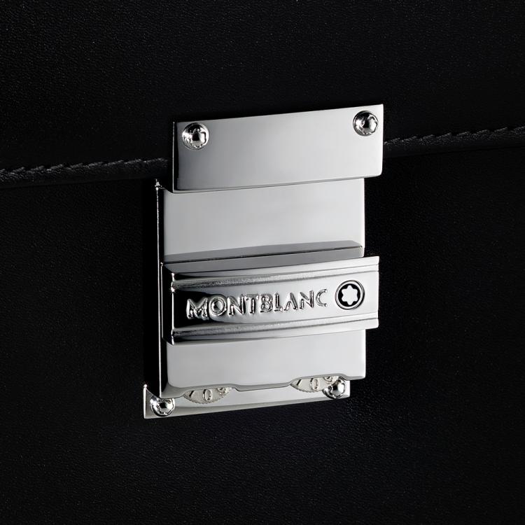 Cartella a 3 scomparti con porta PC Meisterstuck 104610 - Casavola Noci - Dettaglio chiusura