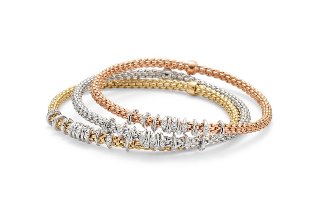 Bracciali Fope Prima con elementi in diamanti - Casavola Noci - Marketing